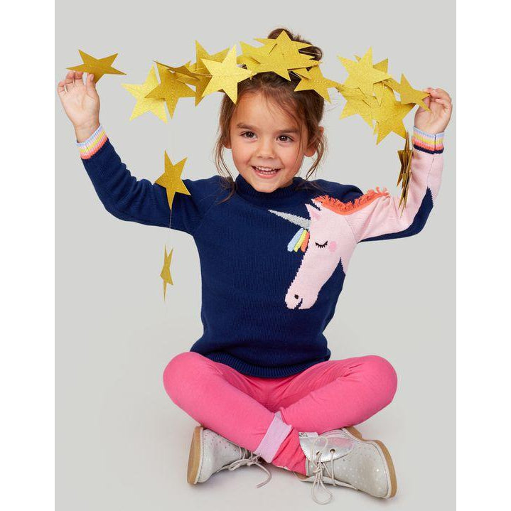 Joules Gee Gee Novelty Knitted Jumper-Girl - Sweaters-Joules-3Y-Eden Lifestyle