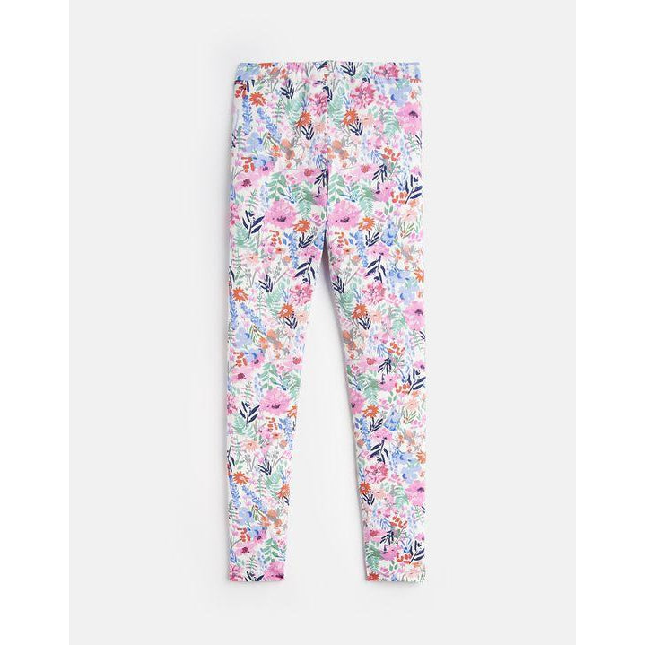 Joules DeeDee Printed Leggings - Cream Multi Floral-Girl - Leggings-Joules-3Y-Eden Lifestyle