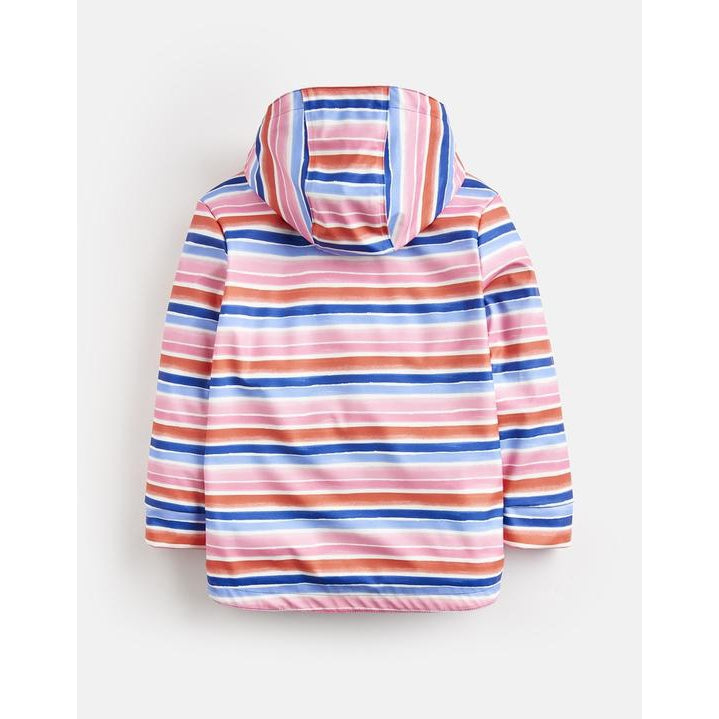 Joules, Girl - Outerwear,  Joules Raindance Waterproof Rain Coat - Pink Rainbow Stripe