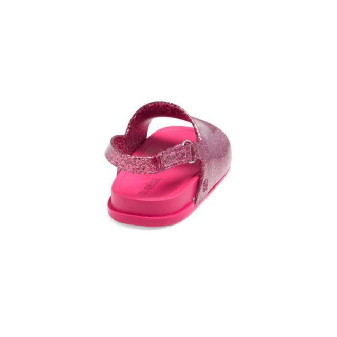 Mini Beach Slide Sandal Pink Glitter-Shoes - Girl-Mini Melissa-5-Eden Lifestyle