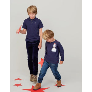 Joules, Boy - Shirts,  Joules Woody French Navy Polo