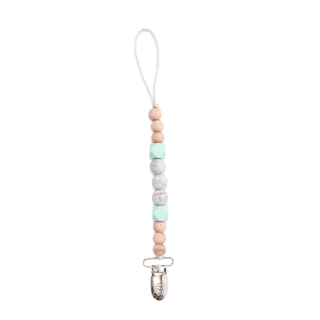 Bella Tunno Manhattan Mint One. Good. Bead. Pacifier Clip-Accessories-Bella Tunno-Eden Lifestyle