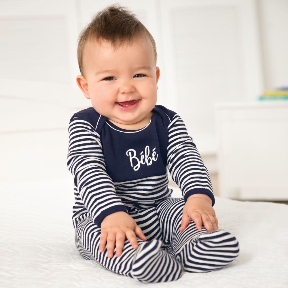 Breton Bebe Footie-Baby Boy Apparel - One-Pieces-Jojo Maman Bebe-Newborn-Eden Lifestyle