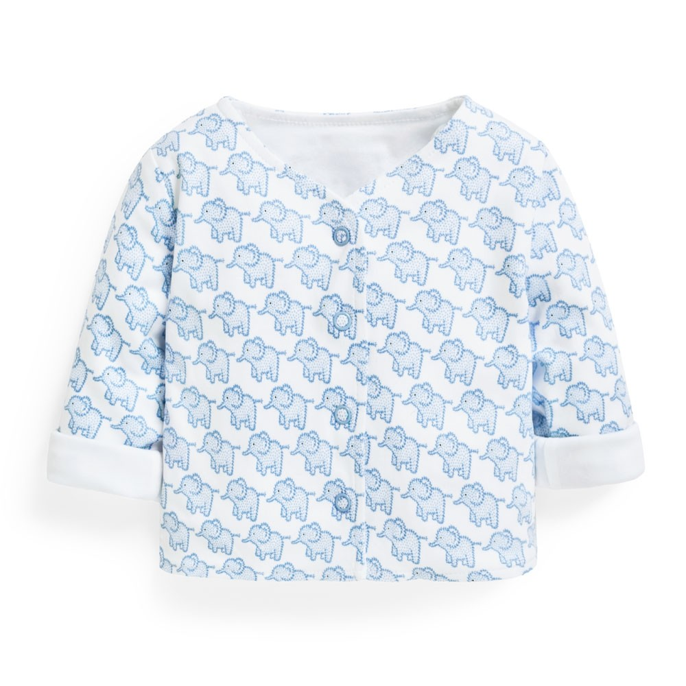 2-Piece Elephant Baby Jacket & Footie Set