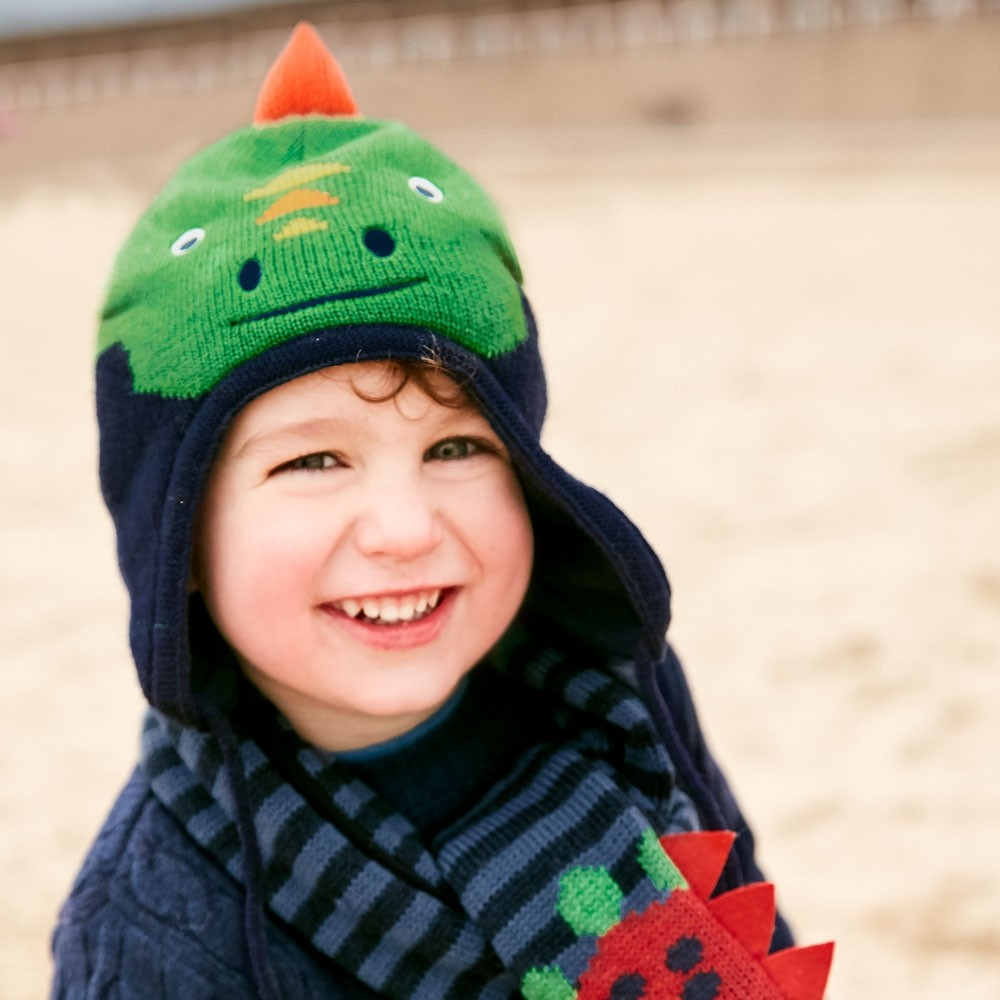 Green Dinosaur Hat-Accessories - Hats-Jojo Maman Bebe-1-2Y-Eden Lifestyle