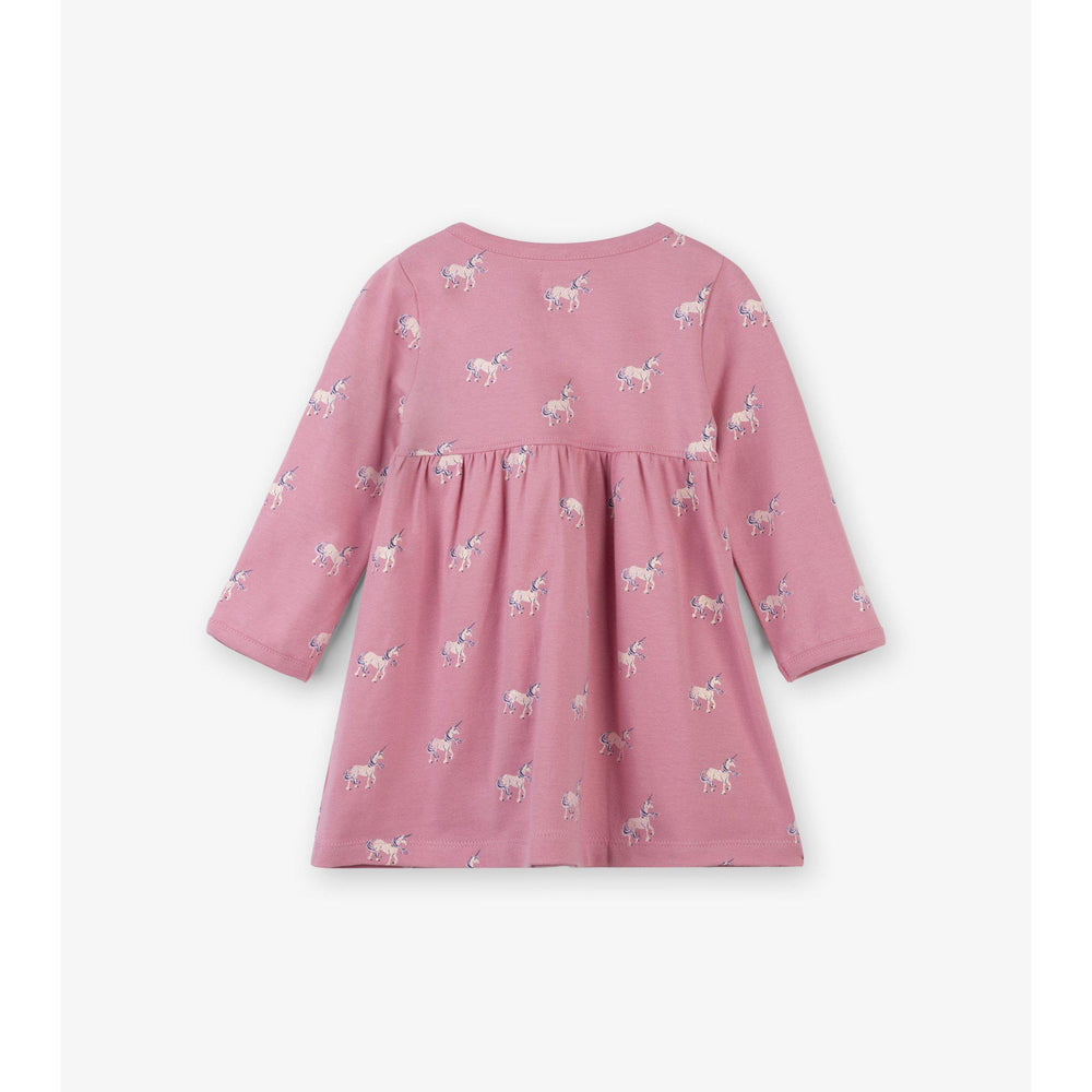 Hatley, Baby Girl Apparel - Dresses,  Hatley Graphic Unicorns Baby Cross Over Dress