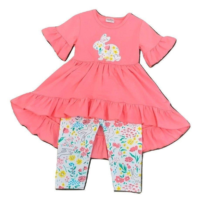 Eden Lifestyle, Girls Set, Eden Lifestyle, Easter Bunny Ruffle Top Set