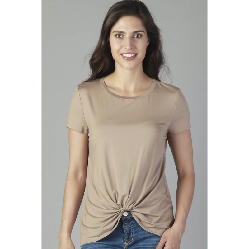 Classic Knotted Tee-Women - Tees-Eden Lifestyle-XS-Aqua-Eden Lifestyle