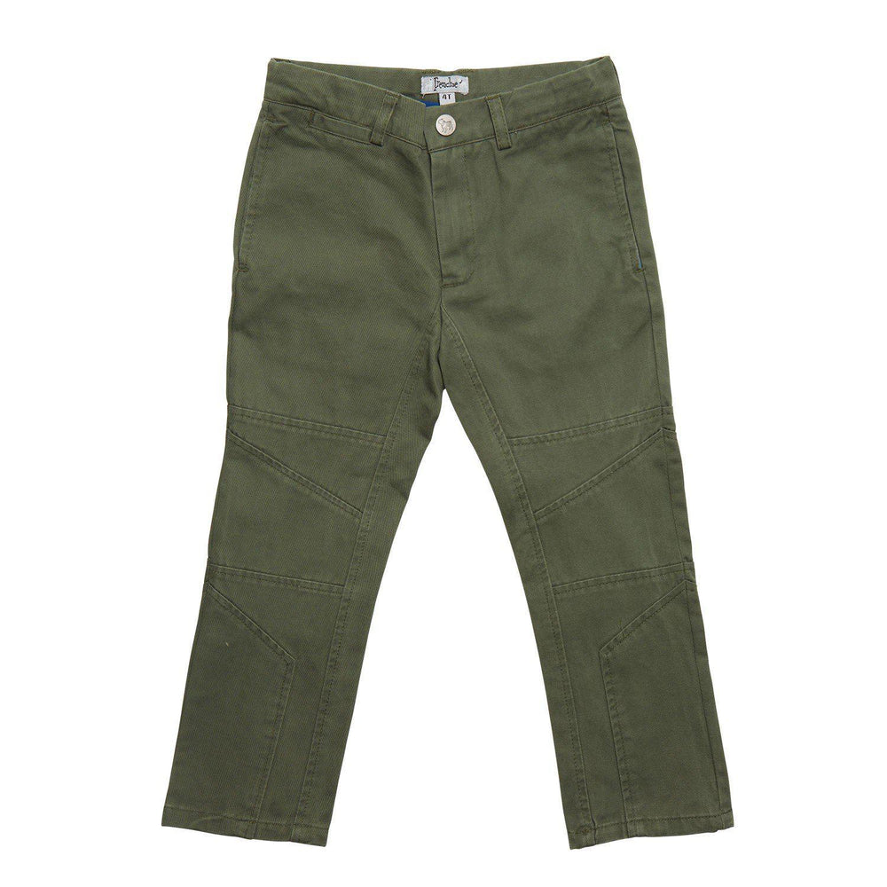Frenchie Couture, Boy - Pants,  Elastic Drawstring Pants - Olive