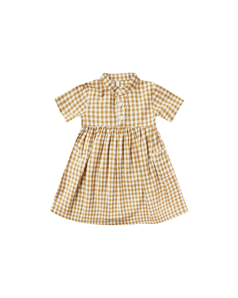 Rylee & Cru Goldenrod Gingham Esme Dress