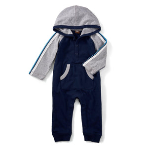 Evan Hoodie Romper-Baby Boy Apparel - Rompers-Tea Collection-0-3M-Eden Lifestyle