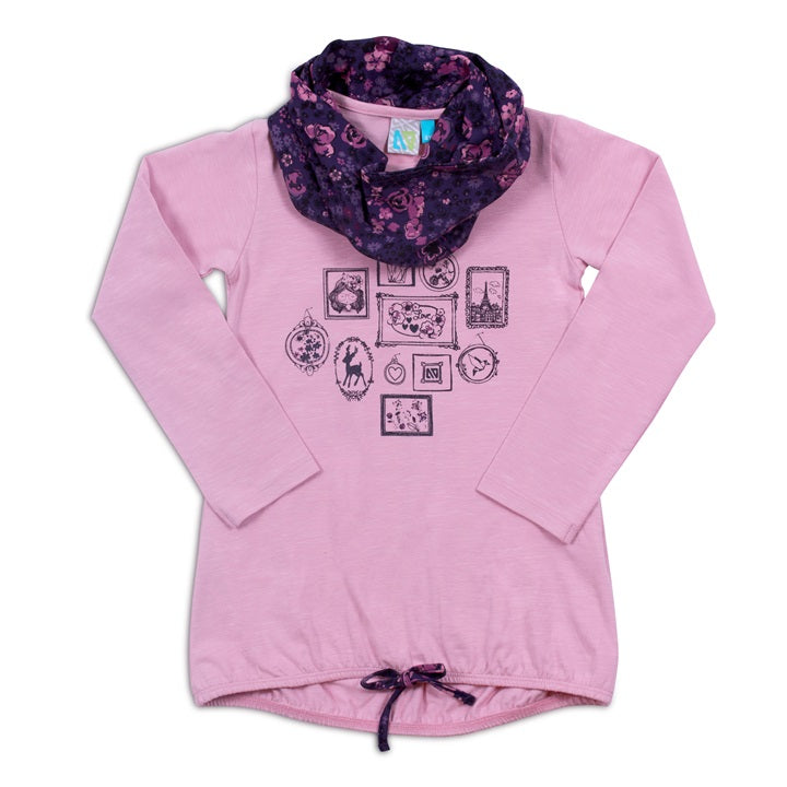 Frozen Garden Top & Scarf-Girl - Shirts & Tops-Noruk-3-Eden Lifestyle