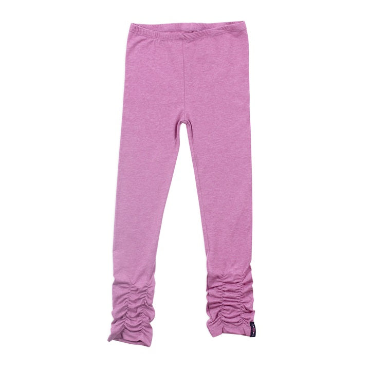Rouched Pink Leggings-Girl - Leggings-Noruk-3-Eden Lifestyle