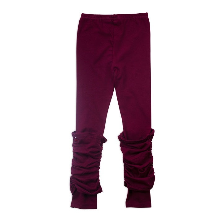 Cranberry Ruched Leggings-Girl - Leggings-Noruk-3-Eden Lifestyle