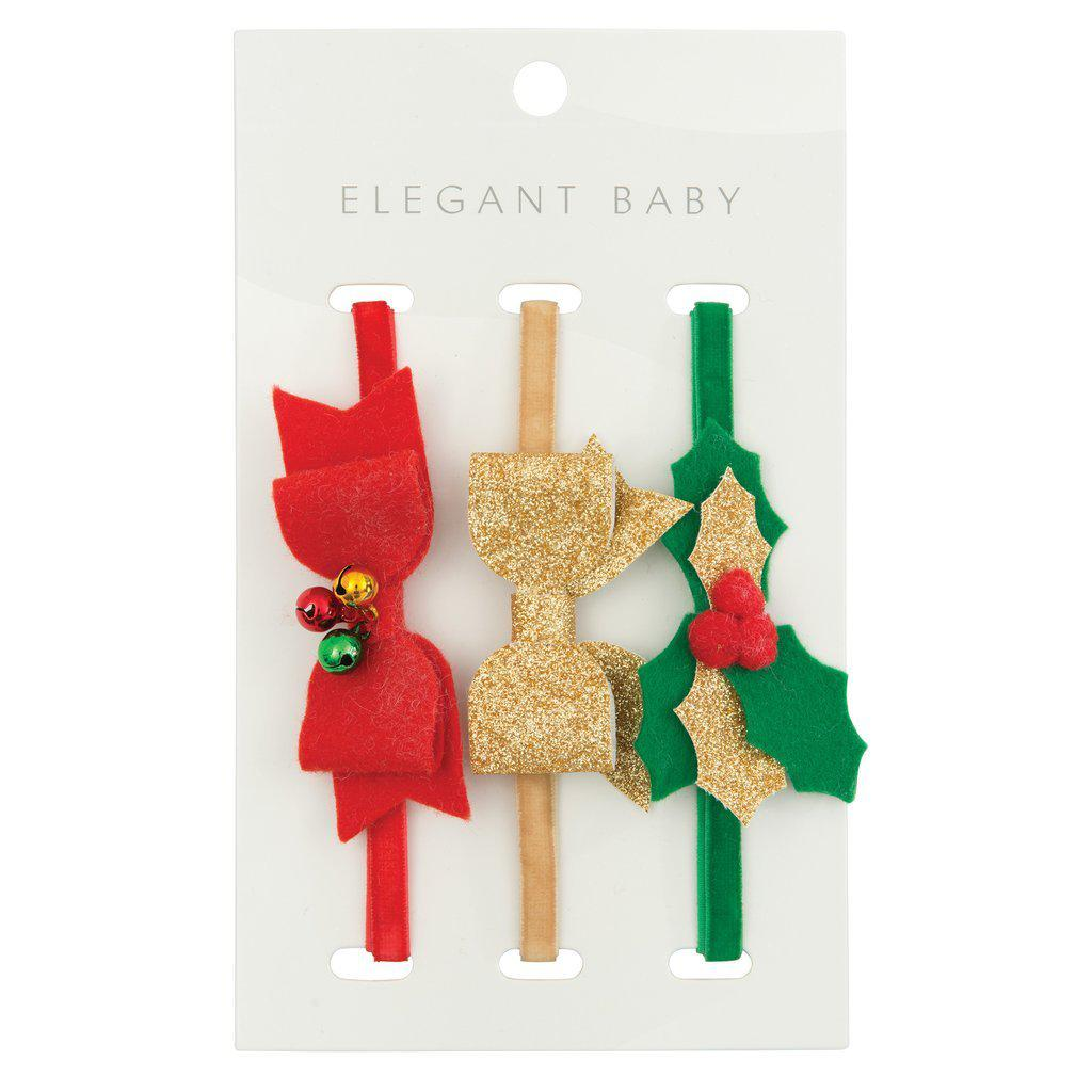 Christmas Felt Headband 3 Pack-Accessories - Bows & Headbands-Eden Lifestyle-Eden Lifestyle