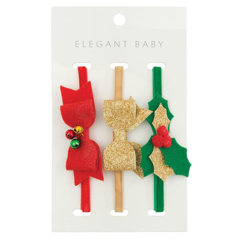 Christmas Felt Headband 3 Pack