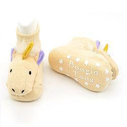 Boogie Toes - Golden Unicorn Rattle Sock-Accessories - Socks-Piero Liventi-0-12M-Eden Lifestyle