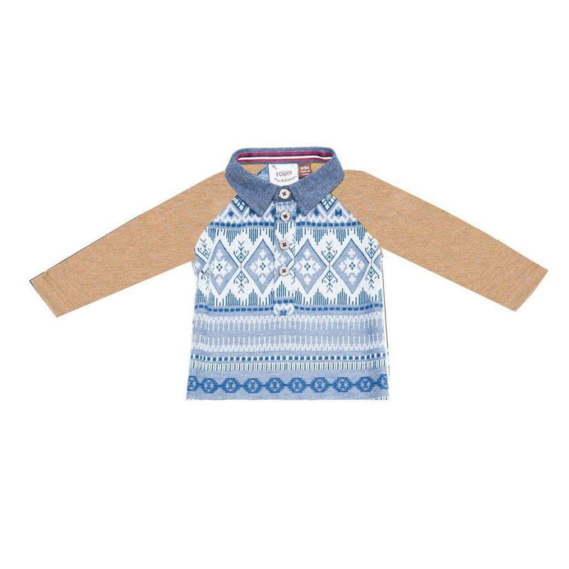 Fore! Axel & Hudson Fair Isle Polo-Baby Boy Apparel - Shirts & Tops-Fore-12-18M-Eden Lifestyle