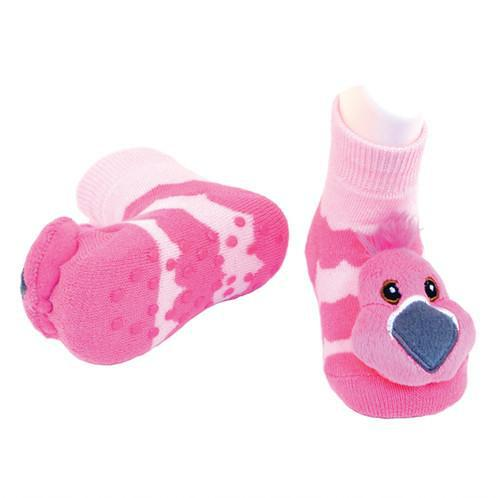 Boogie Toes - Pink Flamingo-Accessories - Socks-Piero Liventi-0-12M-Eden Lifestyle