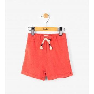 Fire Corallium Mini Pull-On Shorts-Baby Girl Apparel - Shorts-Eden Lifestyle-6-9M-Eden Lifestyle