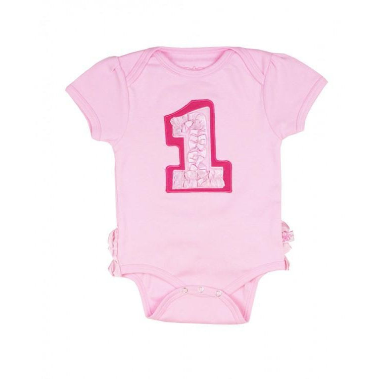 First Birthday - Pink-Baby Girl Apparel - One-Pieces-Ruffle Butts-12-18M-Eden Lifestyle