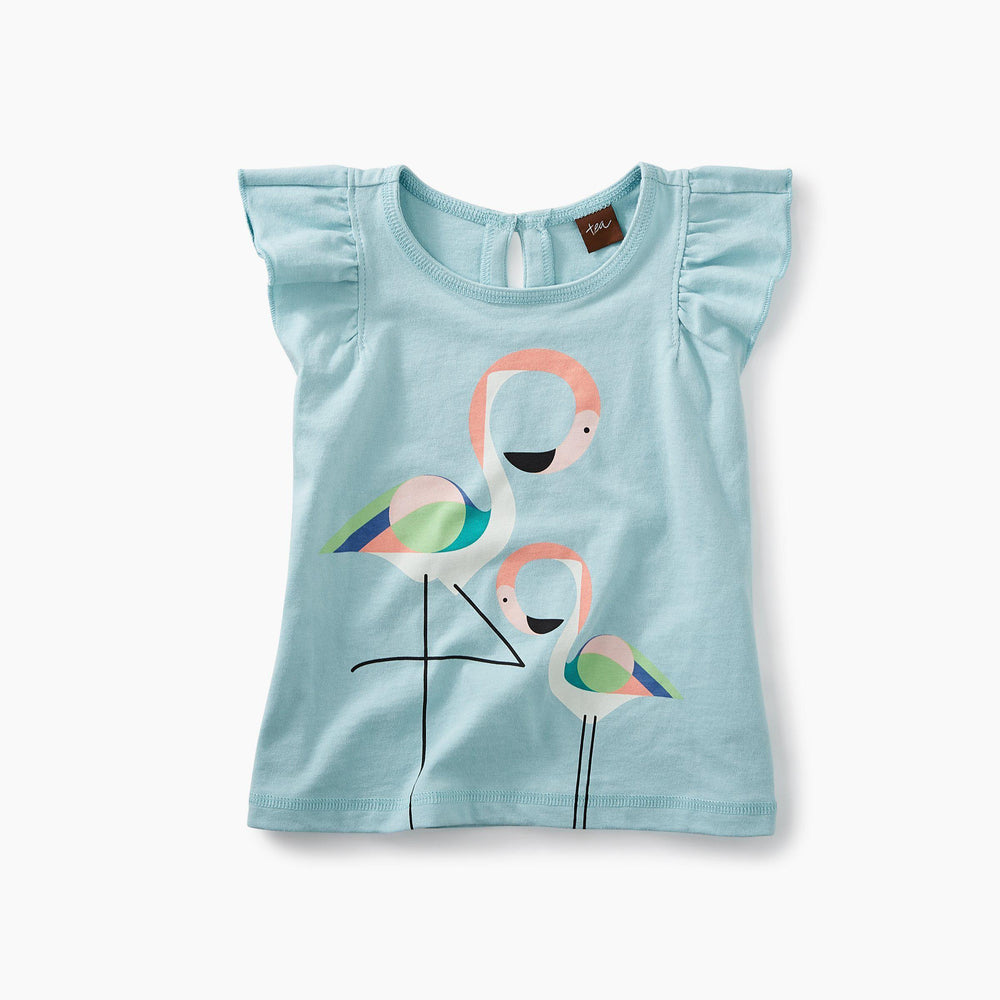 Flamingo Graphic Baby Tee-Baby Girl Apparel - Shirts & Tops-Tea Collection-3-6M-Eden Lifestyle