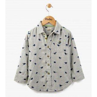 Hatley Flannel Dino Button Down Shirt-Boy - Shirts-Hatley-3-Eden Lifestyle