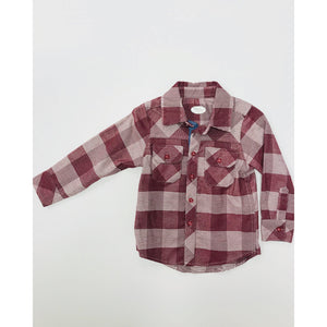 Flannel Plaid Button Down Shirt-Baby Boy Apparel - Shirts & Tops-Frenchie Couture-9-12M-Eden Lifestyle