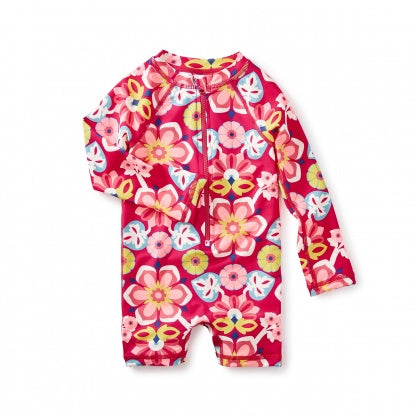 Flora Rash Guard-Baby Girl Apparel - Swimwear-Tea Collection-9-12M-Eden Lifestyle