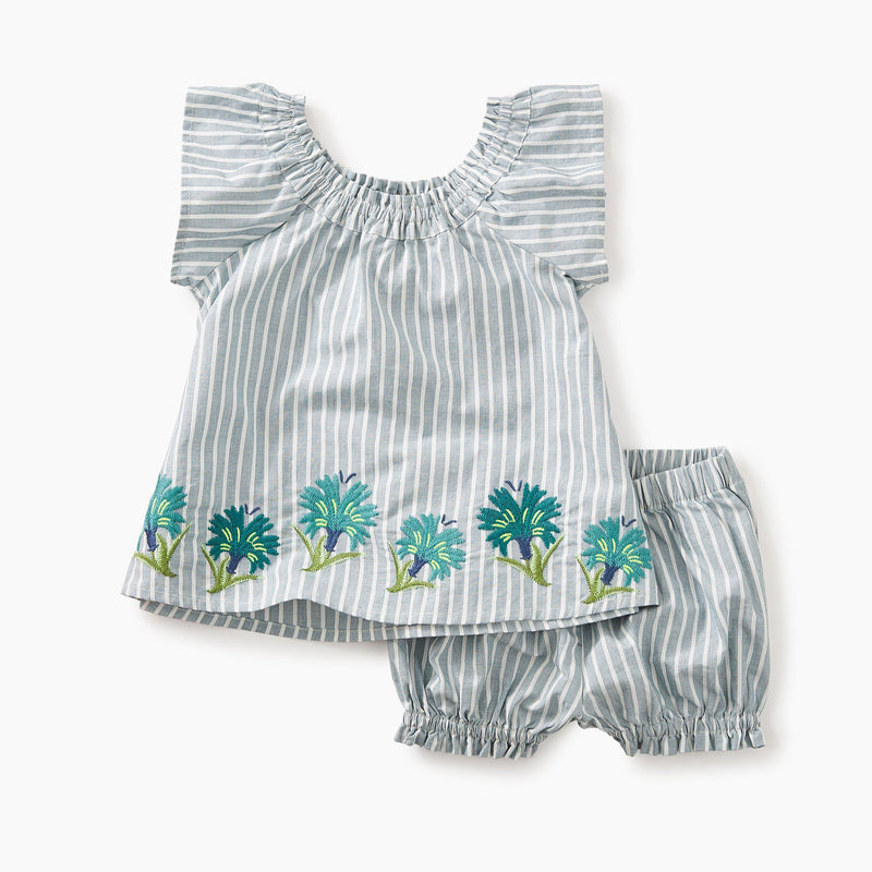Tea, Girls Set, Eden Lifestyle, Floral Embroidered Baby