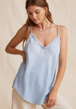 Frayed Cami in Sunbleached Wash