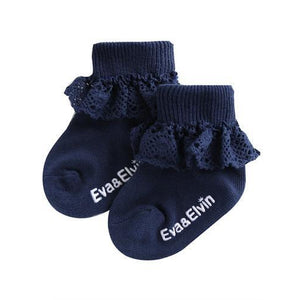 Frilly Socks-Accessories - Socks-Eden Lifestyle-2T-Navy-Eden Lifestyle