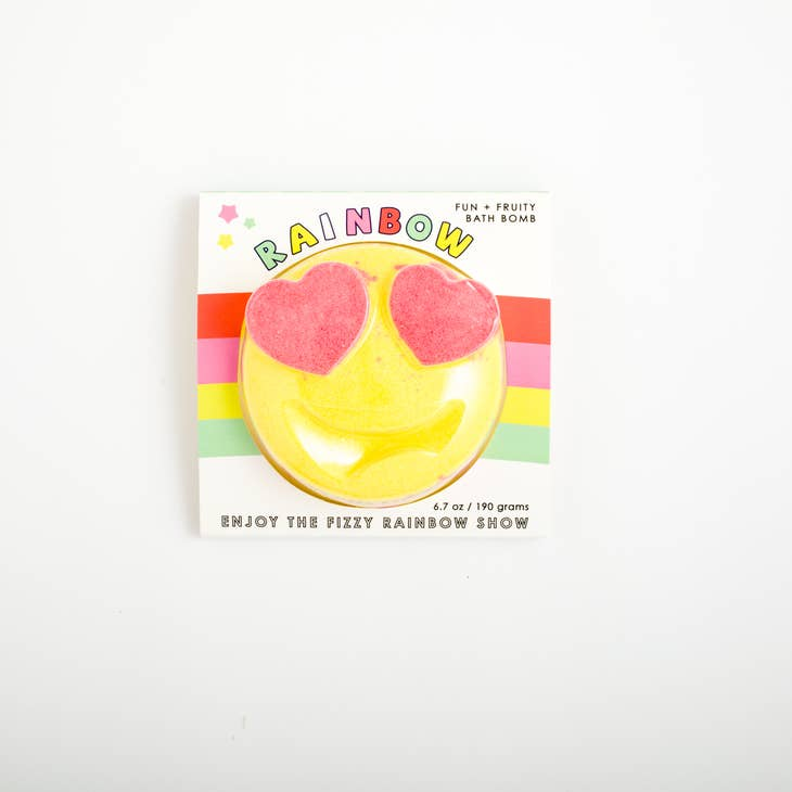 Feeling Smitten, Gifts - Bath Bombs,  Fun + Fruity Rainbow Emoji Bath Bomb