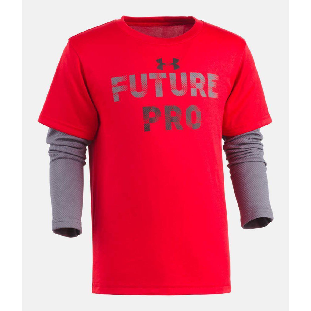 Future Pro Slider - Red-Boy - Shirts-Under Armour-2T-Eden Lifestyle