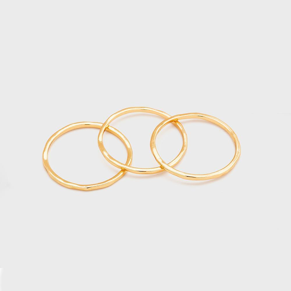 Gorjana, Accessories - Jewelry,  Gorjana - G Ring Set (set of 3)