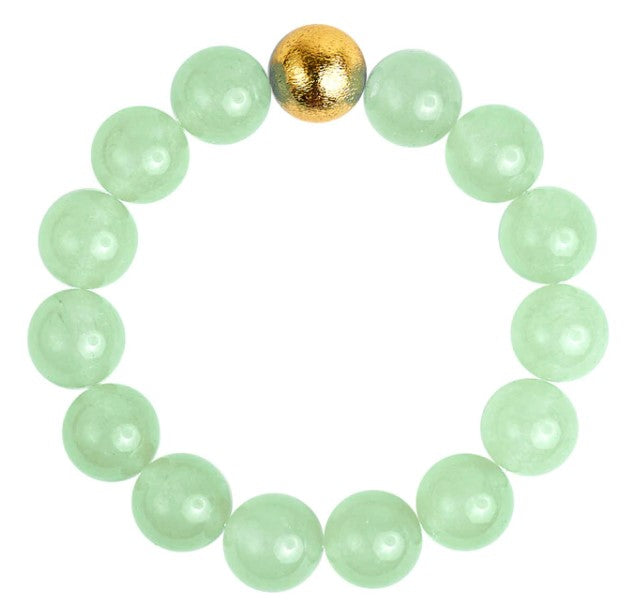 Georgia Green Quartz Beaded Bracelet - Eden Lifestyle