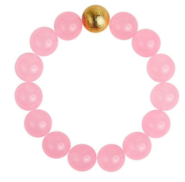 Georgia Pink Quartz Beaded Bracelet - Eden Lifestyle