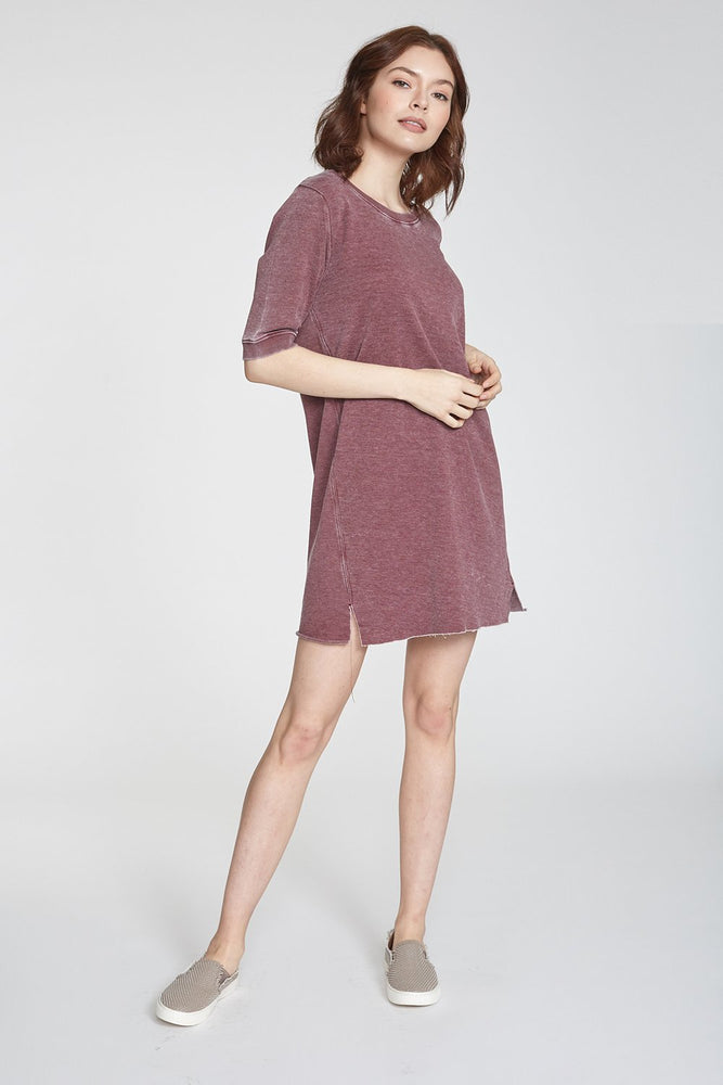 Gianna Vintage Wash Dress Bordeaux