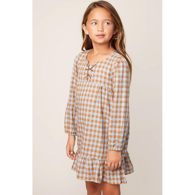 Gingham Ruffle Dress-Girl - Dresses-Hayden LA-7-Eden Lifestyle