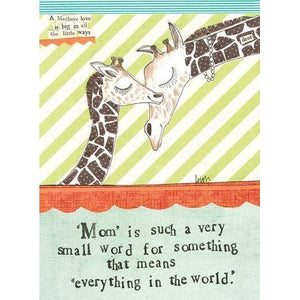 Giraffe Greeting Card-Gifts - Greeting Cards-Curly Girl Design-Eden Lifestyle