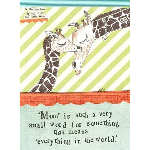 Curly Girl Design, Gifts, Eden Lifestyle, Giraffe Greeting Card
