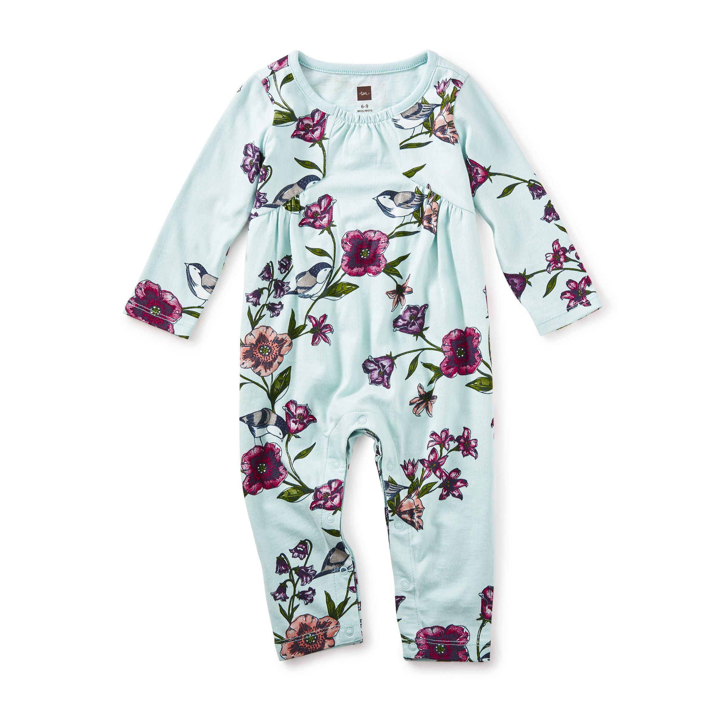 d0def5b8454 Glenna Pieced Romper-Baby Girl Apparel - Rompers-Tea Collection-6-9M
