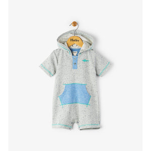 Hatley Great White Hooded Mini Romper-Baby Boy Apparel - Rompers-Hatley-6-9M-Eden Lifestyle