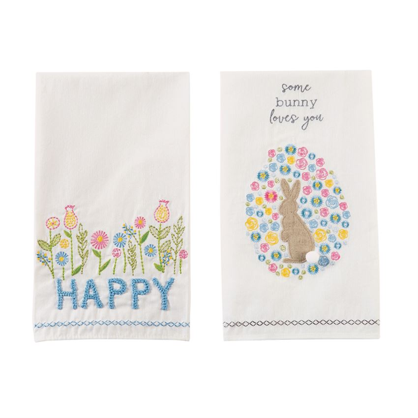 Mud Pie - Embroidered Spring Towels