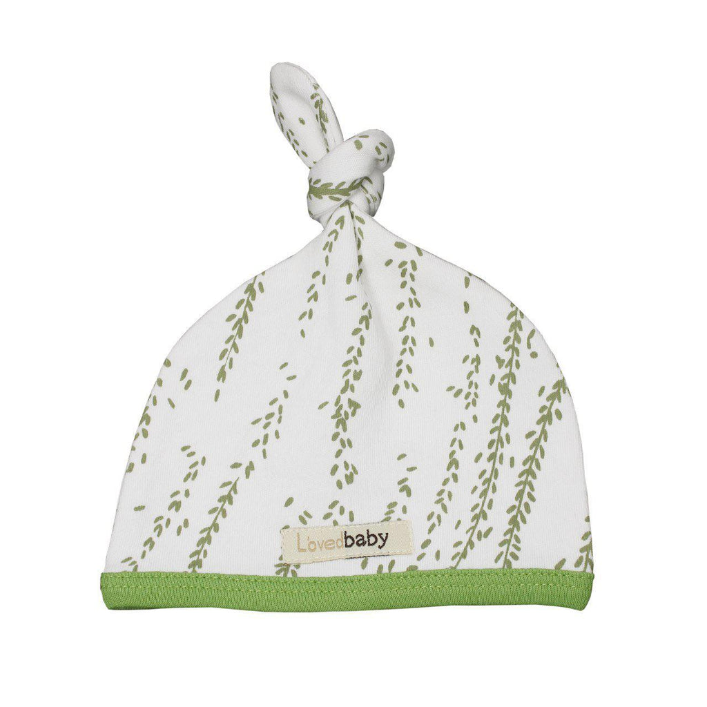L'oved Baby Organic Top-Knot Hat Moss Willow-Accessories - Hats-Loved Baby-NB-Eden Lifestyle