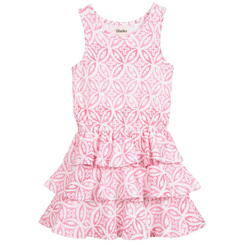 Hatley Pink Madala Ruffle Dress-Girl - Dresses-Hatley-4-Eden Lifestyle