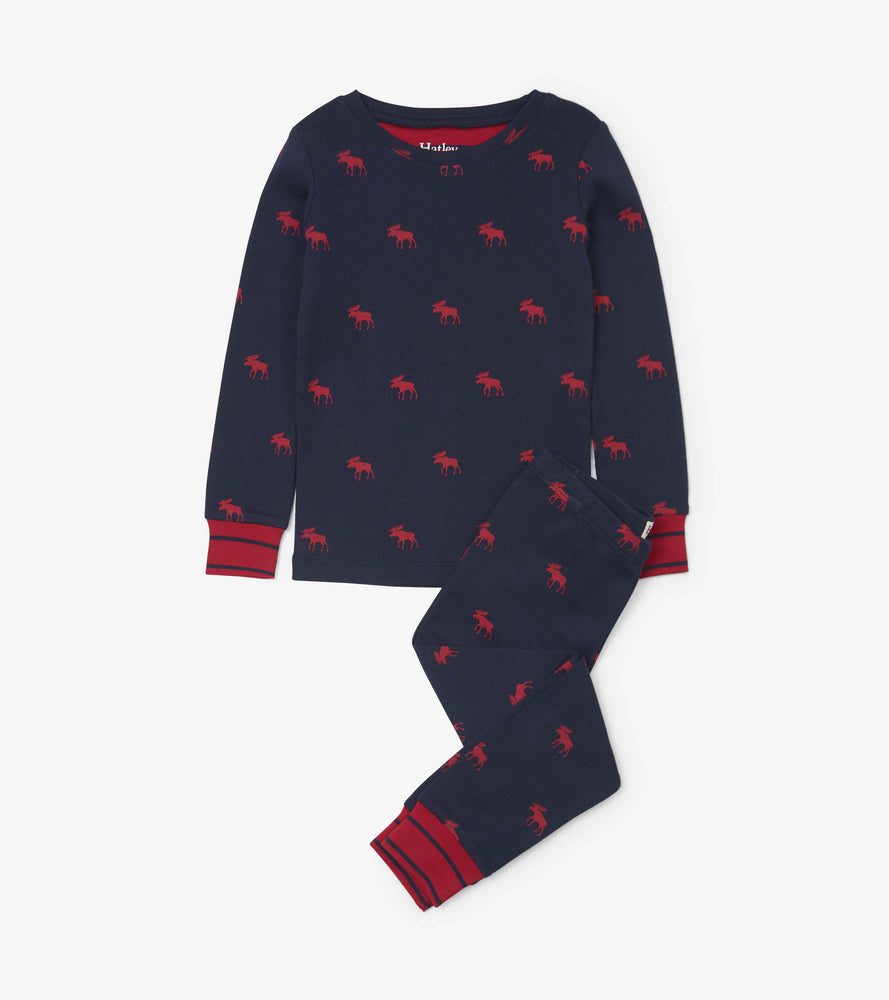 Hatley, Boy - Pajamas,  Hatley Red Moose Organic Cotton Pajama Set