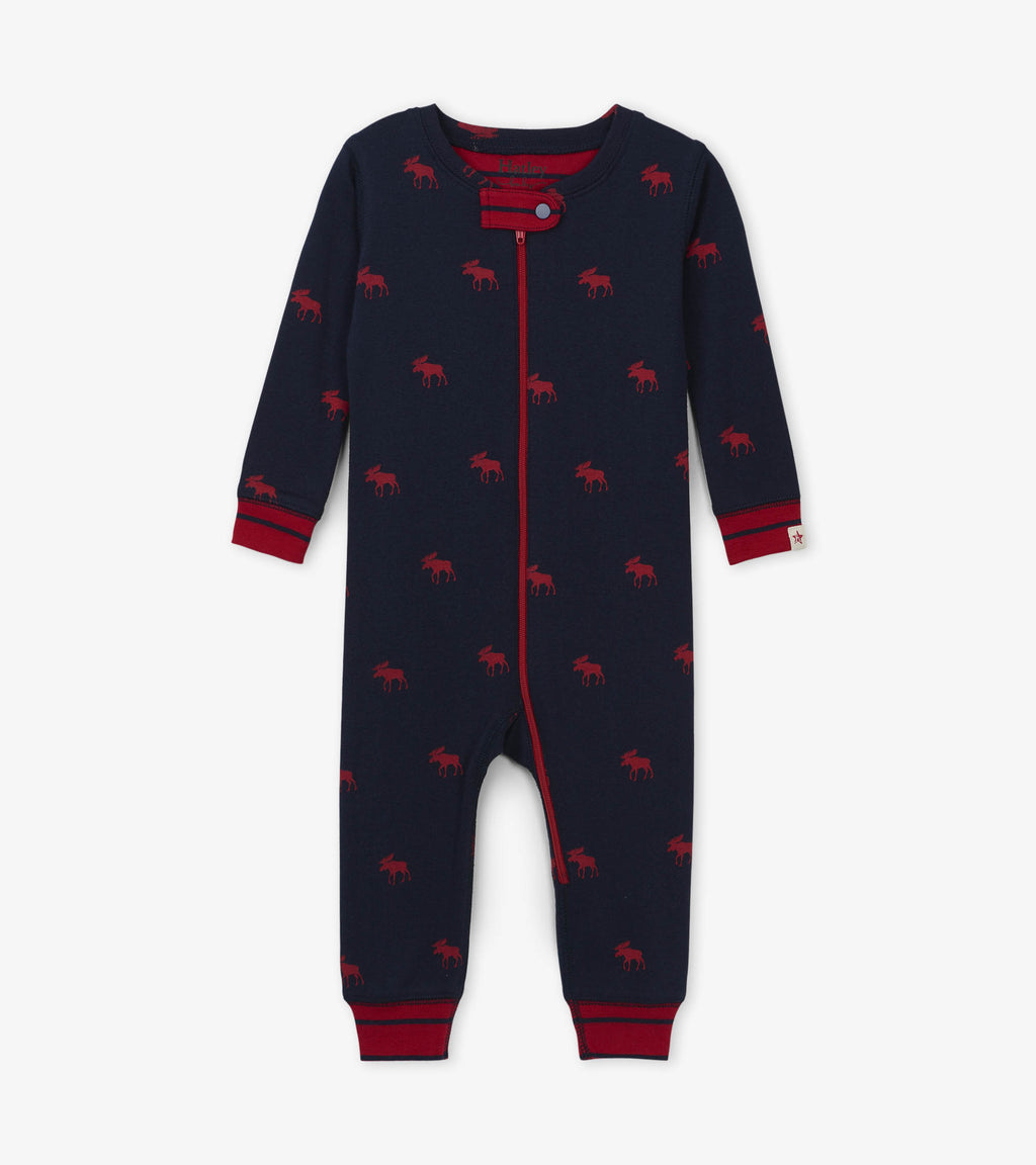 Hatley Red Moose Organic Cotton Coverall
