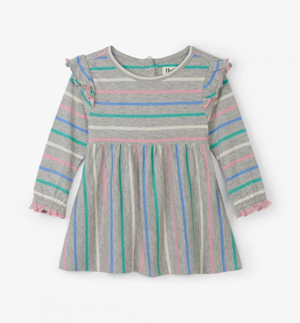 Hatley, Baby Girl Apparel - Dresses,  Hatley Sweet Stripe Ruffle Cap Baby Dress