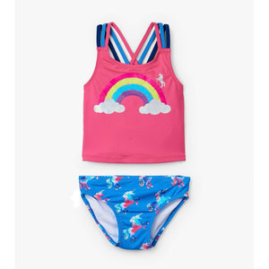 Hatley, Girl - Swimwear,  Hatley Rainbow Unicorn Tankini